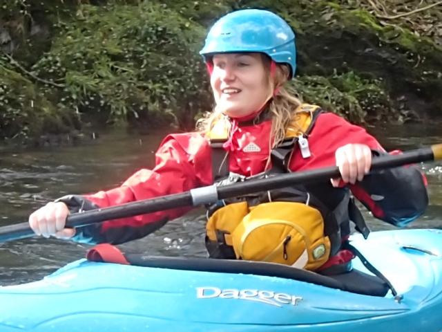 beginner canoeist